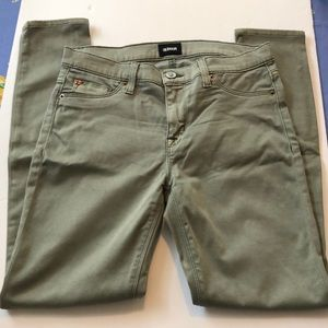 Hudson Light Forest Green Skinny Jeans.